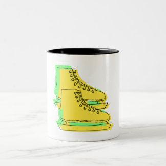Yellow Ice Skates Mugs