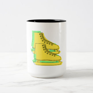 Yellow Ice Skates Coffee Mug