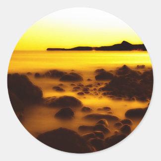 Yellow Ice Round Sticker