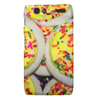 Yellow Iced Sugar Cookies w Sprinkles Droid RAZR Cases