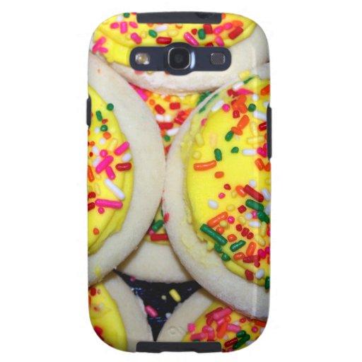 Yellow Iced Sugar Cookies w/Sprinkles Samsung Galaxy SIII Cover