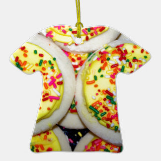Yellow Iced Sugar Cookies w/Sprinkles Christmas Ornament