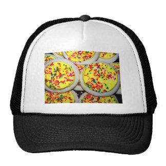 Yellow Iced Sugar Cookies w/Sprinkles Trucker Hats