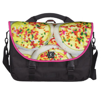 Yellow Iced Sugar Cookies w/Sprinkles Bags For Laptop