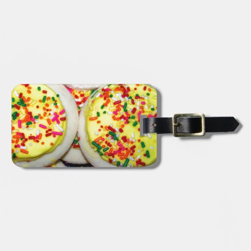 Yellow Iced Sugar Cookies w/Sprinkles Tag For Bags