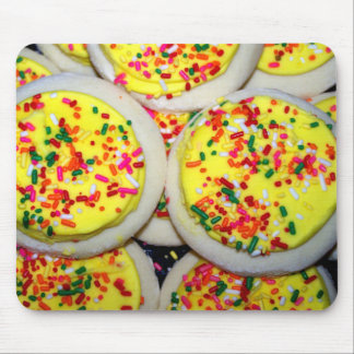 Yellow Iced Sugar Cookies w/Sprinkles Mouse Pad