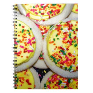 Yellow Iced Sugar Cookies w/Sprinkles Notebook