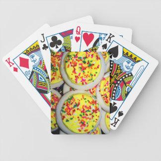 Yellow Iced Sugar Cookies w/Sprinkles Bicycle Card Deck