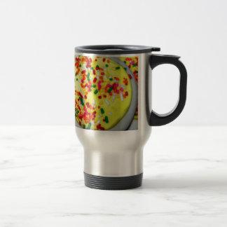 Yellow Iced Sugar Cookies w/Sprinkles Stainless Steel Travel Mug