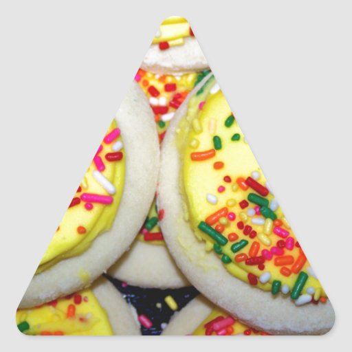 Yellow Iced Sugar Cookies w/Sprinkles Sticker