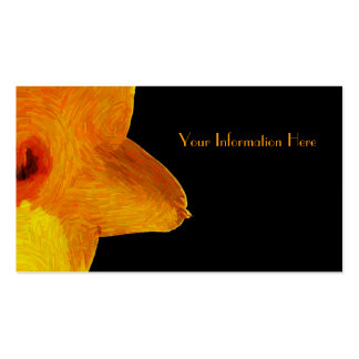 Yellow Impressionist Daffodil Business Cards