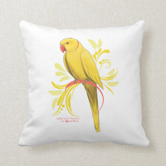 Yellow Indian Ringneck Parrot Cushion