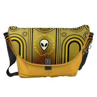 Yellow Industrial Cyber Punk Futuristic Courier Bag