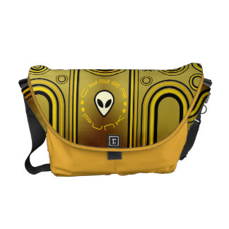 Yellow Industrial Cyber Punk Futuristic Messenger Bag