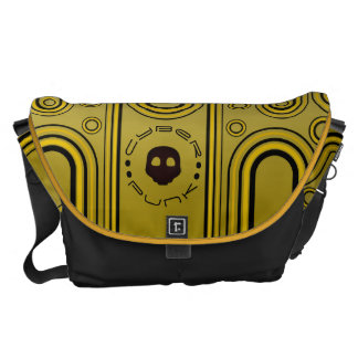 Yellow Industrial Cyber Punk Robot Futuristic Courier Bag