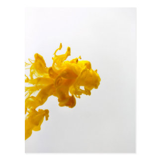 Yellow Ink Drop Fine Art Photography Postcard