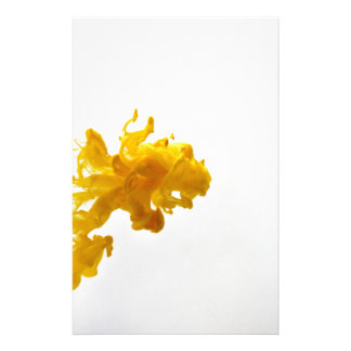 Yellow Ink Drop Fine Art Photography Stationery Design