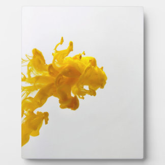 Yellow Ink Drop Photography 8x10 with Easle Plaque