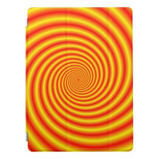 Yellow into Red via Orange Spiral iPad Pro Cover