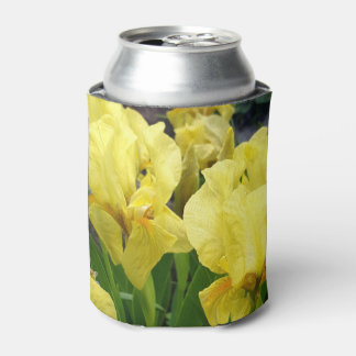 Yellow Iris flowers Can Cooler