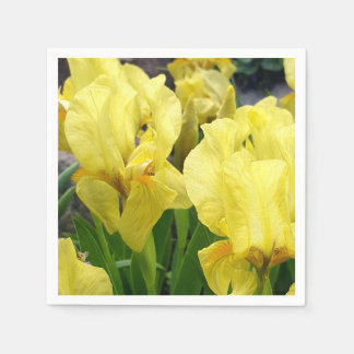 Yellow Iris flowers Disposable Serviette