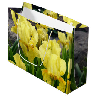 Yellow Iris flowers Large Gift Bag