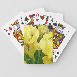 Yellow Iris flowers Playing Cards