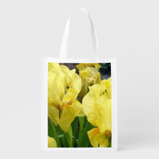 Yellow Iris flowers Reusable Grocery Bag