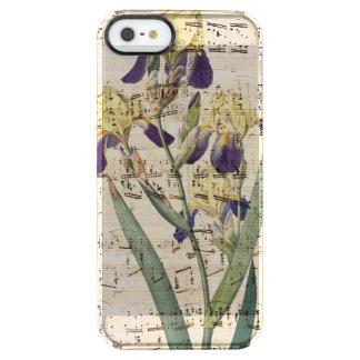 yellow iris music clear iPhone SE/5/5s case