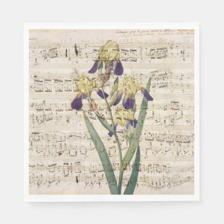 yellow iris music disposable napkins