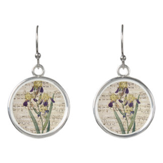 yellow iris music earrings