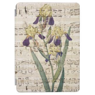yellow iris music iPad air cover