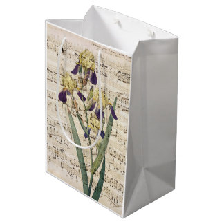 yellow iris music medium gift bag