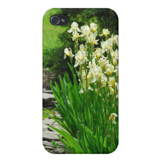 Yellow Irises Cover For iPhone 4