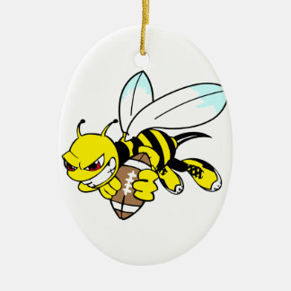 Yellow Jacket Hornet Ceramic Ornament