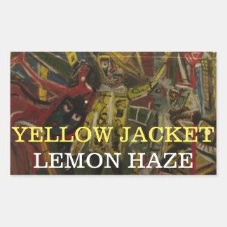YELLOW JACKET LEMON HAZE RECTANGULAR STICKER
