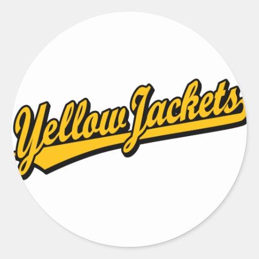 Yellow Jacket Logo Yellow Jackets Script Logo in