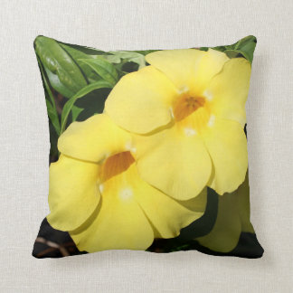 Yellow Jasmine Flower of the Caribbean photo Cushion