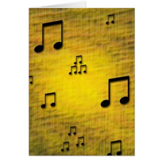 Yellow Jazz Blank Card