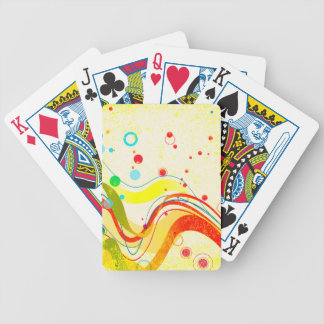 Yellow Jazz Poster Bicycle Playing Cards