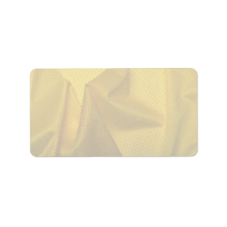 Yellow jersey material address label