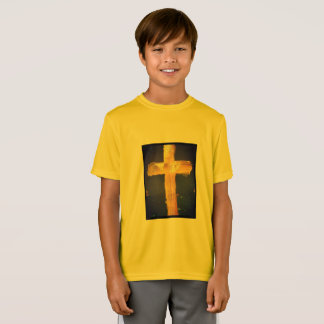 Yellow Jesus Loves Me Sporty Tee