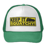 """Yellow KEEP IT SQUATCHY!  """"embroidered-look"""" print Cap"""