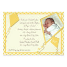Yellow Kites Photo/ Baptism Card