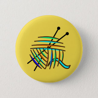 Yellow knitters badge