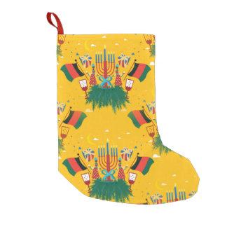 yellow kwanzaa christmas stocking