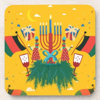 yellow Kwanzaa Coaster