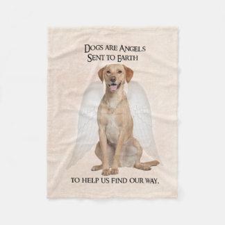 Yellow Lab Angel Fleece Blanket