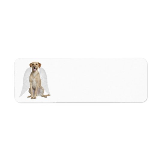 Yellow Lab Angel Return Address Label