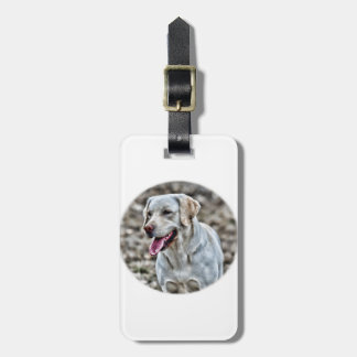 Yellow Lab Artwork Luggage Tag